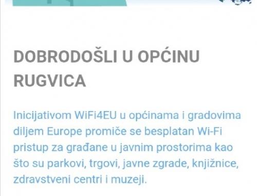 Besplatni WIFI pristup internetu za sve građane i posjetitelje općine Rugvica