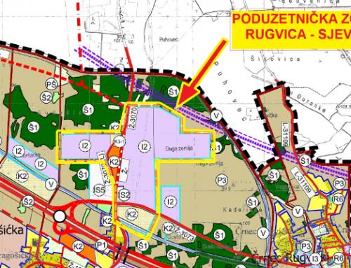 Informacija o započinjanju postupka ocjene o potrebi strateške procjene utjecaja na okoliš II. izmjena i dopuna Urbanističkog plana uređenja poduzetničke zone Rugvica-sjever