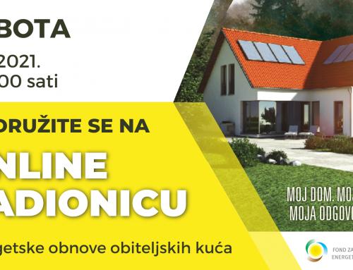 Online radionica – energetska obnova obiteljskih kuća